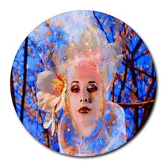 Magic Flower 8  Mouse Pad (round)
