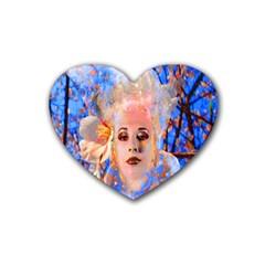 Magic Flower Drink Coasters (heart)