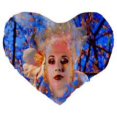 Magic Flower 19  Premium Heart Shape Cushion