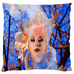 Magic Flower Large Flano Cushion Case (two Sides)