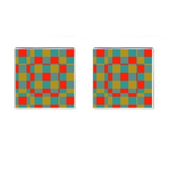 Squares In Retro Colors Cufflinks (square)