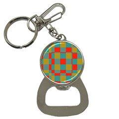 Squares In Retro Colors Bottle Opener Key Chain