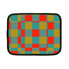 Squares In Retro Colors Netbook Case (small)