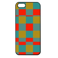 Squares In Retro Colors Apple Iphone 5 Seamless Case (black)