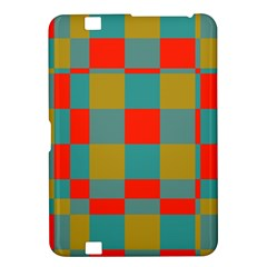 Squares In Retro Colors Kindle Fire Hd 8 9  Hardshell Case
