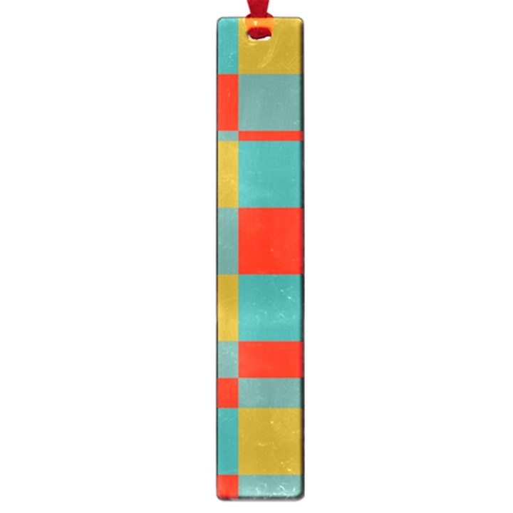 Squares in retro colors Large Book Mark