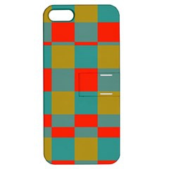 Squares In Retro Colors Apple Iphone 5 Hardshell Case With Stand