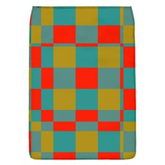 Squares In Retro Colors Removable Flap Cover (large)
