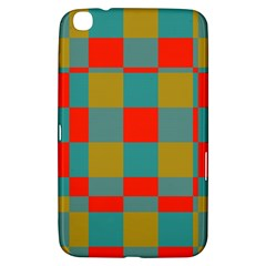 Squares In Retro Colors Samsung Galaxy Tab 3 (8 ) T3100 Hardshell Case