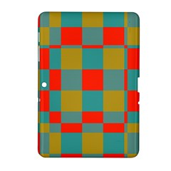 Squares in retro colors Samsung Galaxy Tab 2 (10.1 ) P5100 Hardshell Case