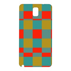 Squares in retro colors Samsung Galaxy Note 3 N9005 Hardshell Back Case