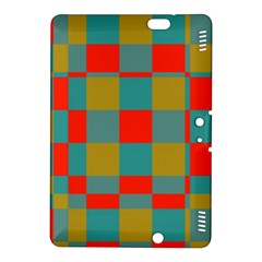 Squares in retro colors Kindle Fire HDX 8.9  Hardshell Case