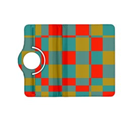 Squares in retro colors Kindle Fire HD (2013) Flip 360 Case