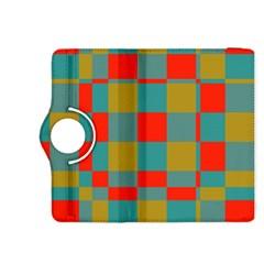 Squares in retro colors Kindle Fire HDX 8.9  Flip 360 Case