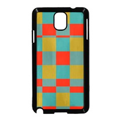 Squares in retro colors Samsung Galaxy Note 3 Neo Hardshell Case (Black)