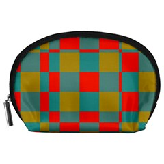 Squares in retro colors Accessory Pouch (Large)