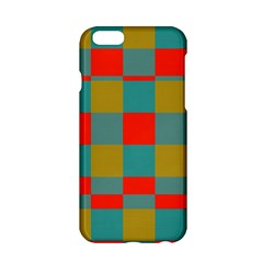 Squares in retro colors Apple iPhone 6 Hardshell Case