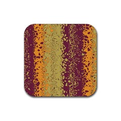 Scattered Pieces Rubber Coaster (square)