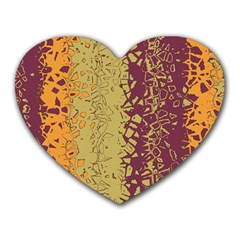 Scattered Pieces Heart Mousepad