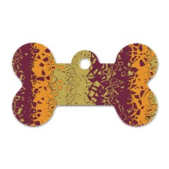 Scattered Pieces Dog Tag Bone (two Sides)