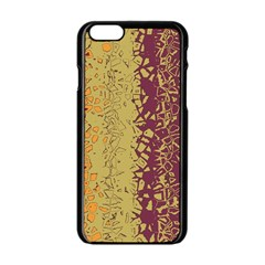 Scattered pieces Apple iPhone 6 Black Enamel Case