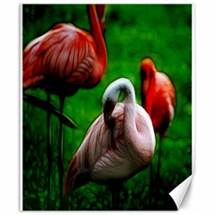 3pinkflamingos Canvas 20  X 24  (unframed)