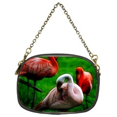 3pinkflamingos Chain Purse (two Sided)