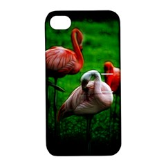 3pinkflamingos Apple Iphone 4/4s Hardshell Case With Stand