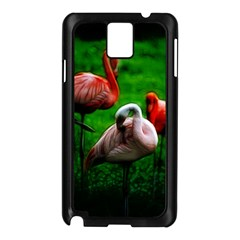 3pinkflamingos Samsung Galaxy Note 3 N9005 Case (Black)