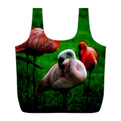 3pinkflamingos Reusable Bag (l)