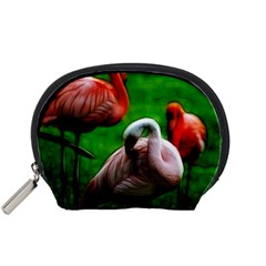 3pinkflamingos Accessory Pouch (Small)