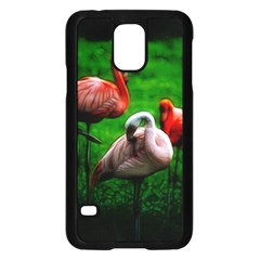 3pinkflamingos Samsung Galaxy S5 Case (black)