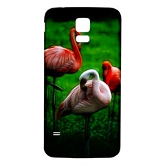 3pinkflamingos Samsung Galaxy S5 Back Case (White)