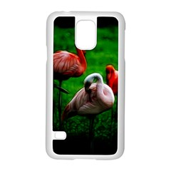 3pinkflamingos Samsung Galaxy S5 Case (white)