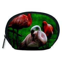 3pinkflamingos Accessory Pouch (Medium)