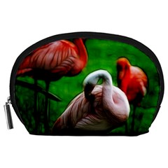 3pinkflamingos Accessory Pouch (large)
