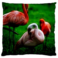 3pinkflamingos Large Flano Cushion Case (One Side)
