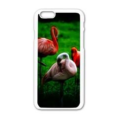 3pinkflamingos Apple Iphone 6 White Enamel Case