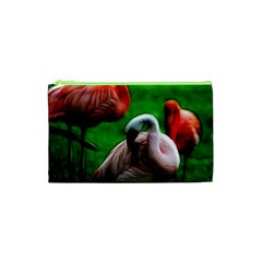 3pinkflamingos Cosmetic Bag (XS)