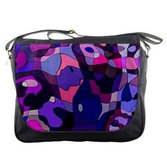 Blue Purple Chaos Messenger Bag