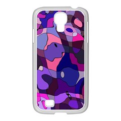 Blue Purple Chaos Samsung Galaxy S4 I9500/ I9505 Case (white)