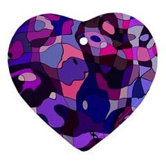 Blue Purple Chaos Ornament (heart)