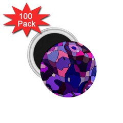 Blue Purple Chaos 1 75  Magnet (100 Pack)