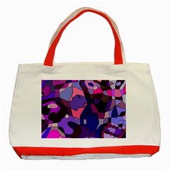Blue Purple Chaos Classic Tote Bag (red)