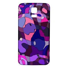 Blue purple chaos Samsung Galaxy S5 Back Case (White)