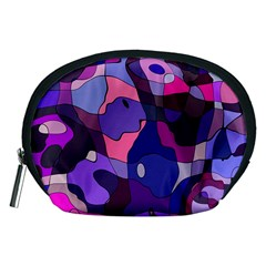 Blue purple chaos Accessory Pouch (Medium)