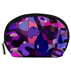 Blue purple chaos Accessory Pouch (Large)
