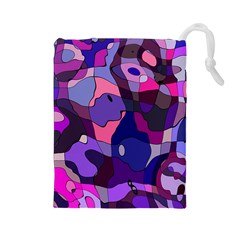 Blue purple chaos Drawstring Pouch (Large)
