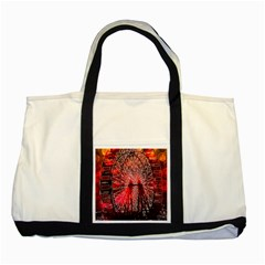 Vintage 1893 Chicago Worlds Fair Ferris Wheel Two Toned Tote Bag