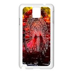 Vintage 1893 Chicago Worlds Fair Ferris Wheel Samsung Galaxy Note 3 N9005 Case (White)